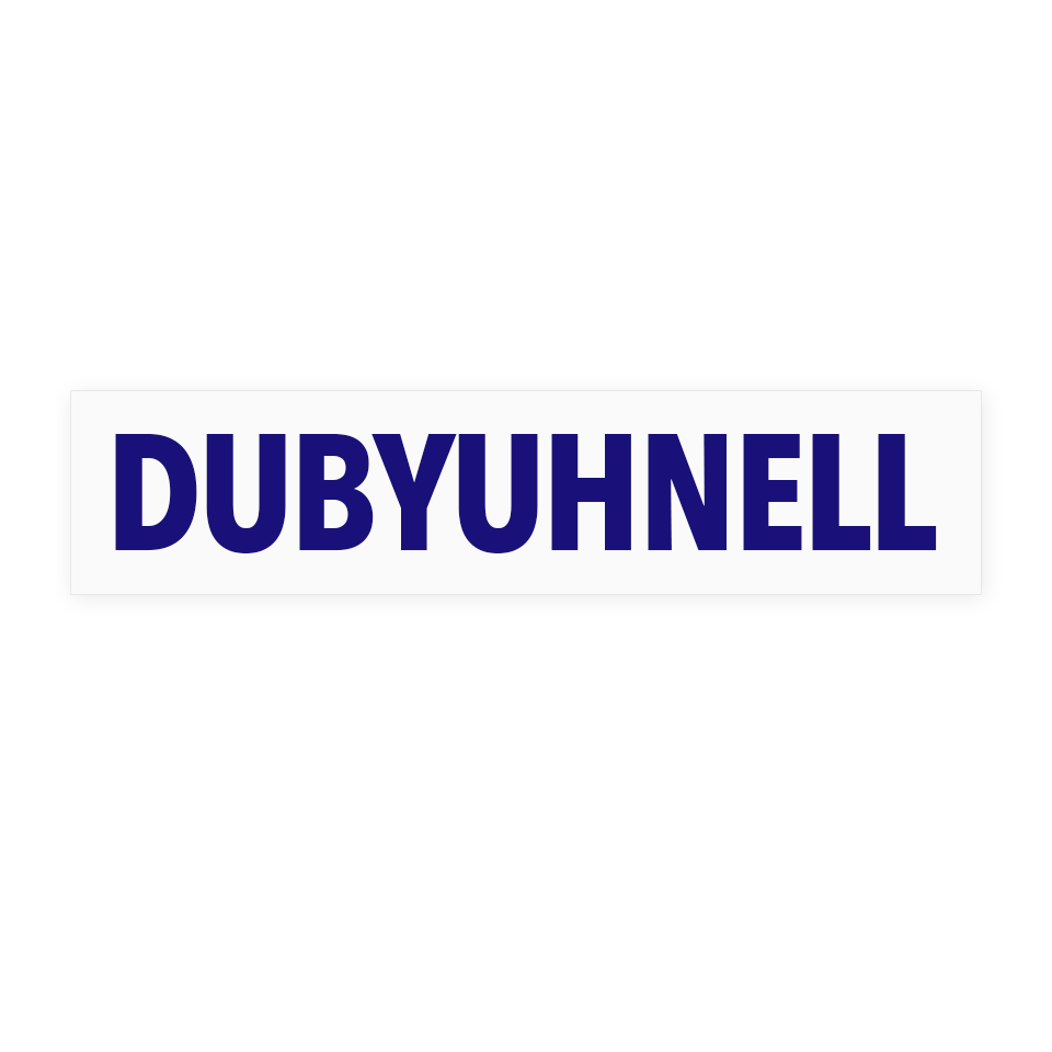 Image For Dubyuhnell Decal, Outside