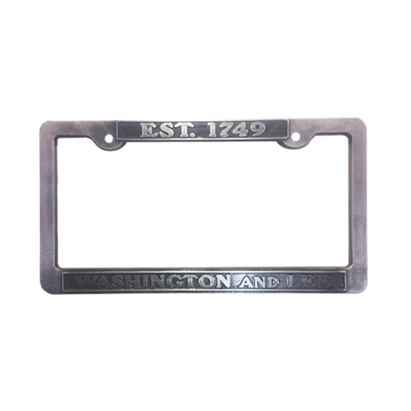 Image For Pewter 1749 License Plate Frame