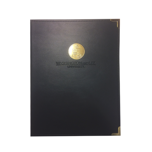 Image For Padfolio with Medallion and Debossed Name, Black or Navy