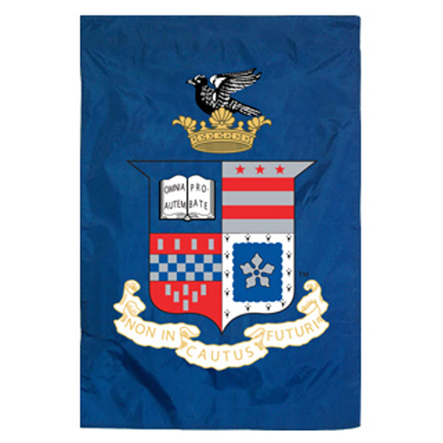 Image For Vertical Crest Home Banner, Royal