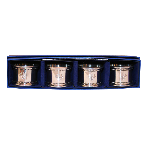 Image For Salisbury Pewter Trident Napkin Ring Set