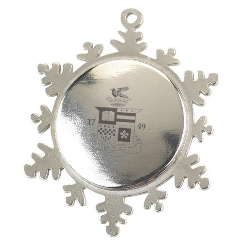 Image For Salisbury Pewter Snowflake Ornament with Crest