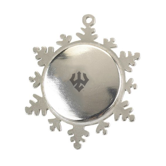 Image For Salisbury Pewter Snowflake Ornament, Trident