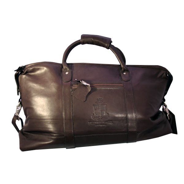 Image For Canyon Cabin Falls Leather Duffel, Brown