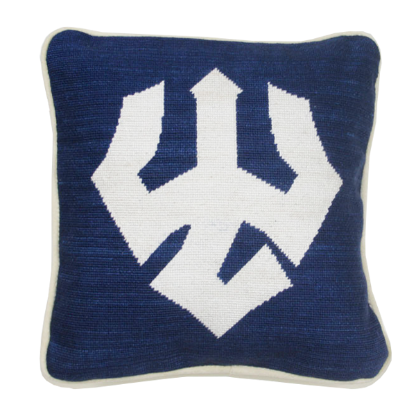 Image For Smathers & Branson Trident Pillow, Navy