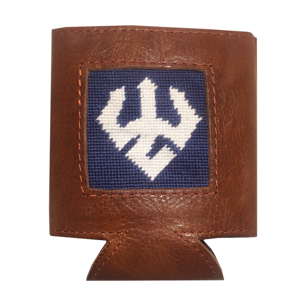 Image For Smathers & Branson Leather Coozie, Trident