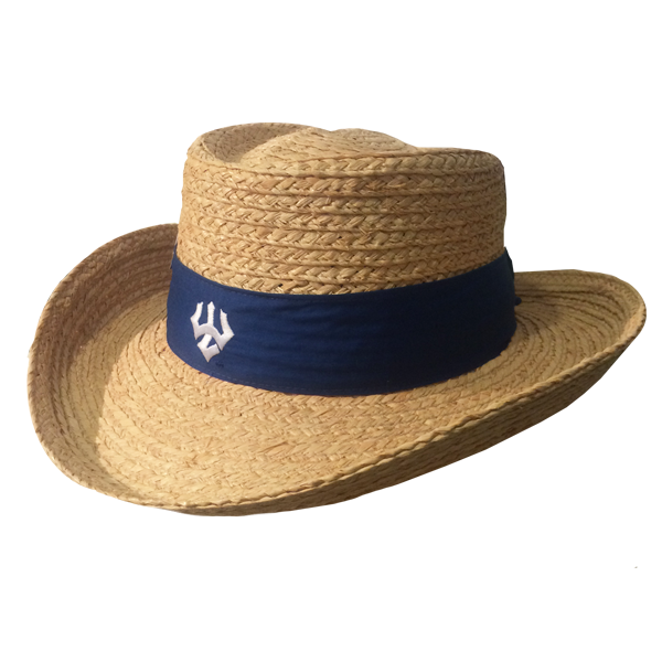 Image For Raffia Gambler Straw Hat