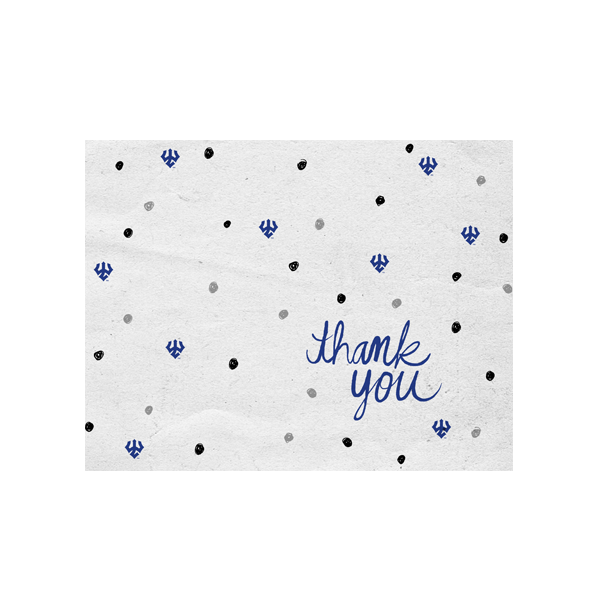 Image For Dot Thank You Card