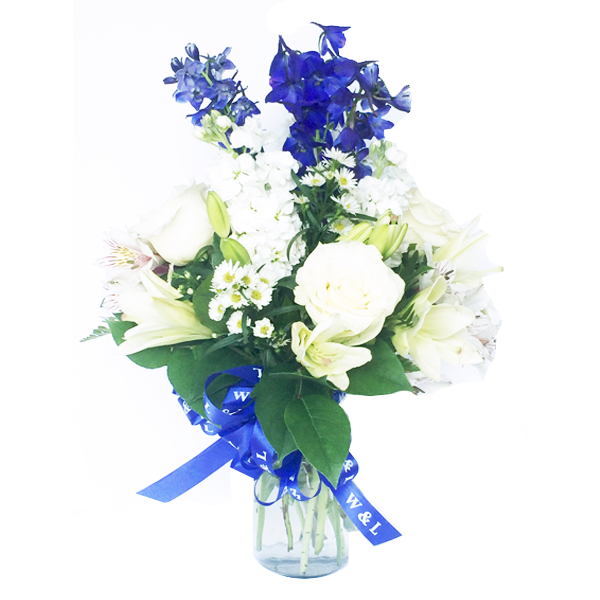 Image For Royal and White Floral Arrangement