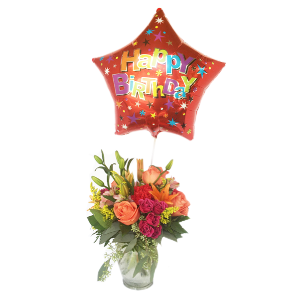 Image For Birthday Floral Arrangement