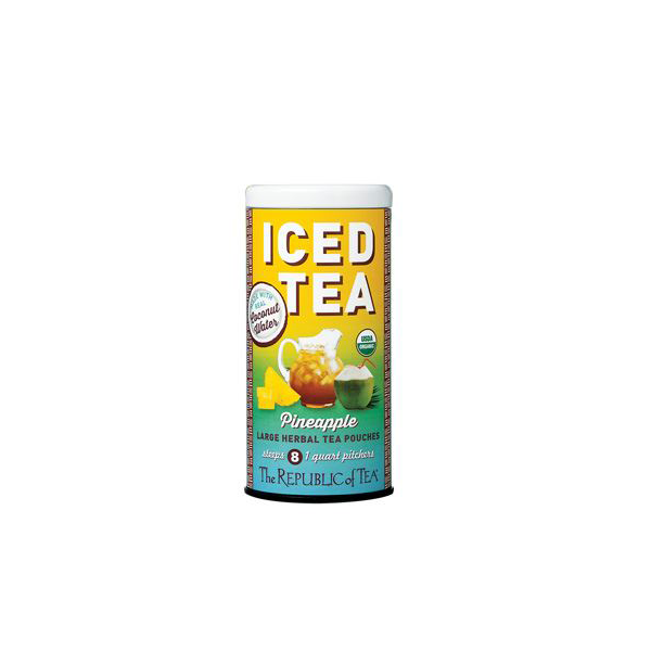 Image For Organic Pineapple Coconut Water Iced Tea Pouches