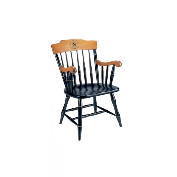 Image For Solid Maple W&L Chair, Two Engraved Lines