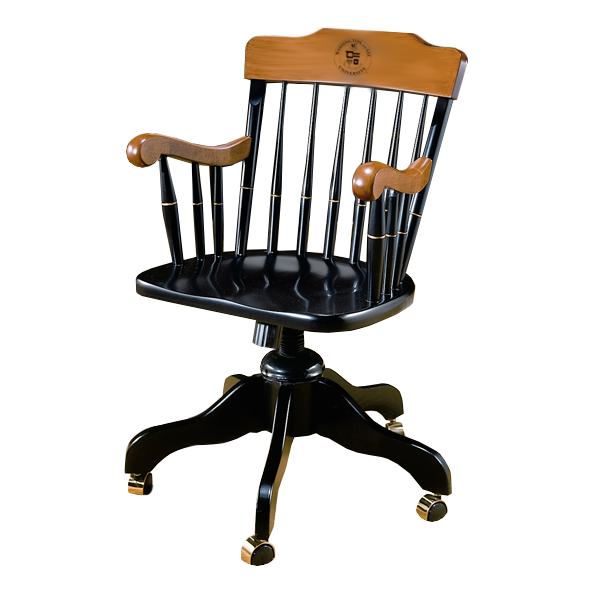 Image For Solid Maple W&L Swivel Chair
