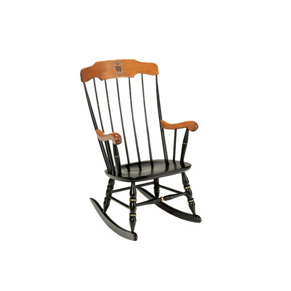 Image For Solid Maple W&L Rocker, Two Engraved Lines