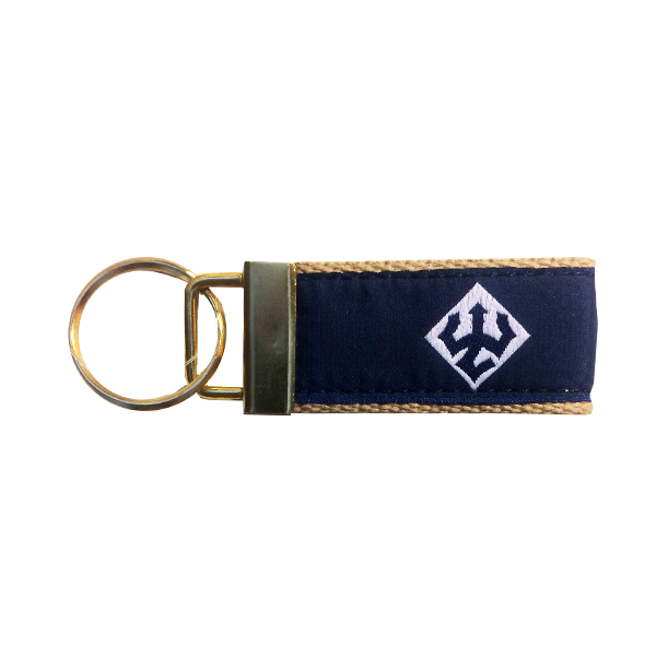 Image For Leather Man Trident Key Fob