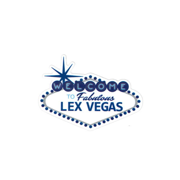 Cover Image For Dizzler Lex Vegas Decal, Small