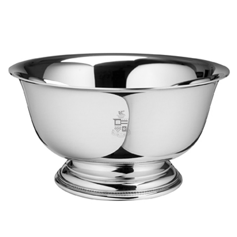 "Image For Salisbury Pewter Revere 9"" Bowl, Crest"