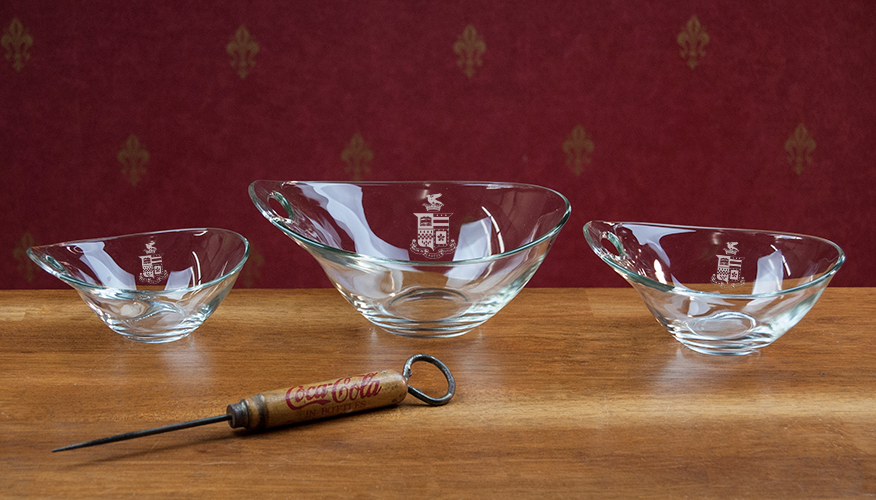 Image For Glass Bowls with Crest