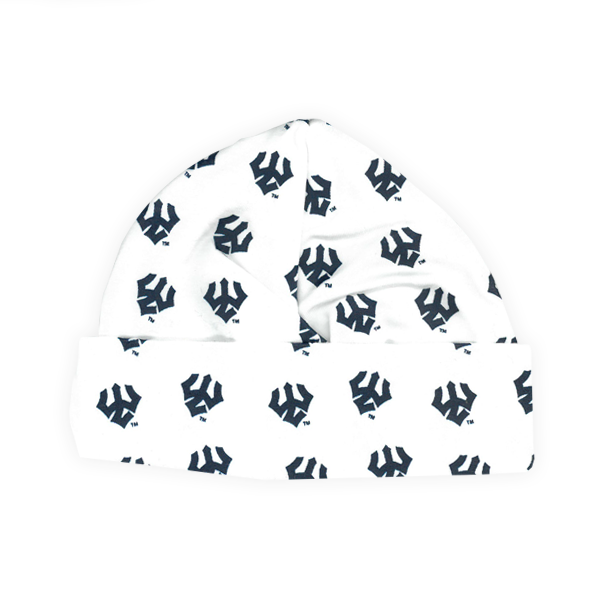 Image For Infant Trident Beanie, Navy Tridents