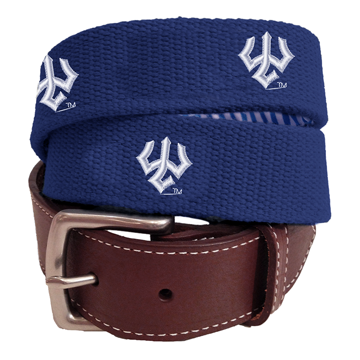 Image For Peter Millar Canvas Trident Belt