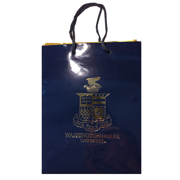 Image For Gift Bag with Crest, Navy