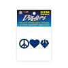 Cover Image for Dizzler Peace Heart & Trident Decal