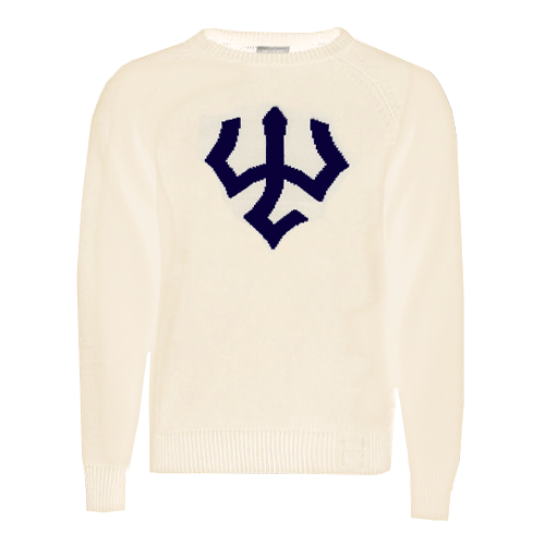 Image For Vintage Trident Sweater, Cream