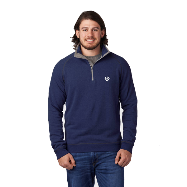 Image For Mock Navy 1/4 Zip