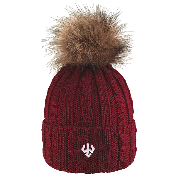 Image For Knit Hat with Faux Fur, Assorted Colors