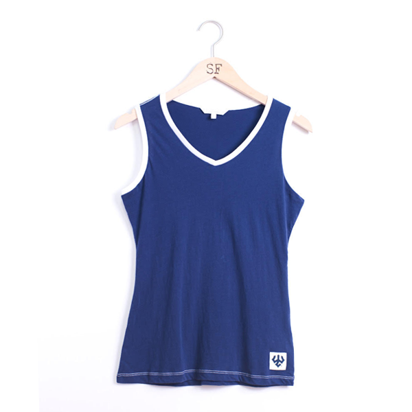 Image For Stepforward Contrast Collar Tank