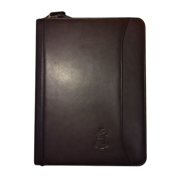 Image For Canyon Leather Zipped Padfolio with Crest