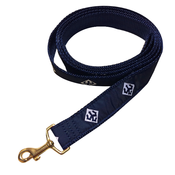 Image For 6' Dog Leash with Tridents, Navy