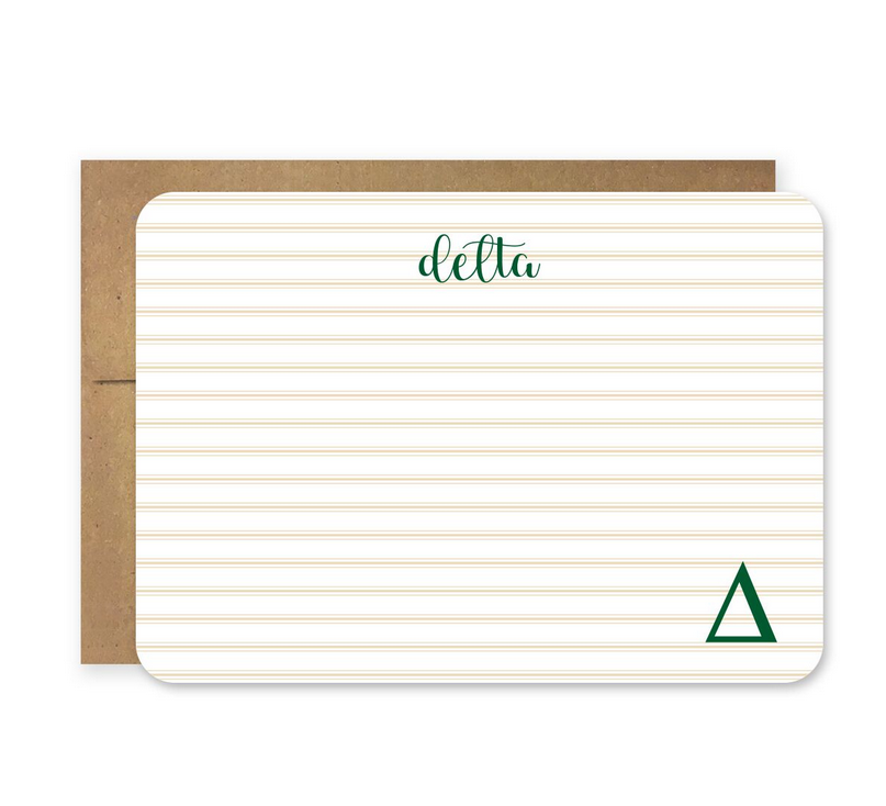 Cover Image For Die Cut Delta Stationery