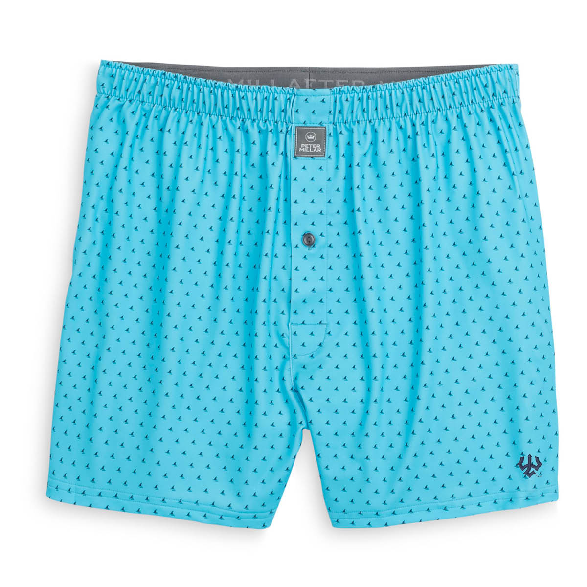 Image For Peter Millar Bloodworth Printed Fins Stretch Jersey Boxer