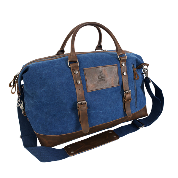 Image For Canyon Leather Canvas Duffel