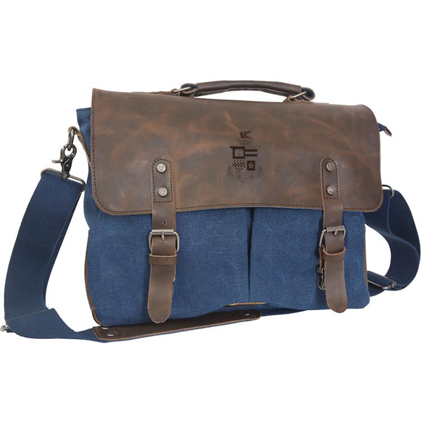 Image For Canyon Leather Canvas Messenger Bag