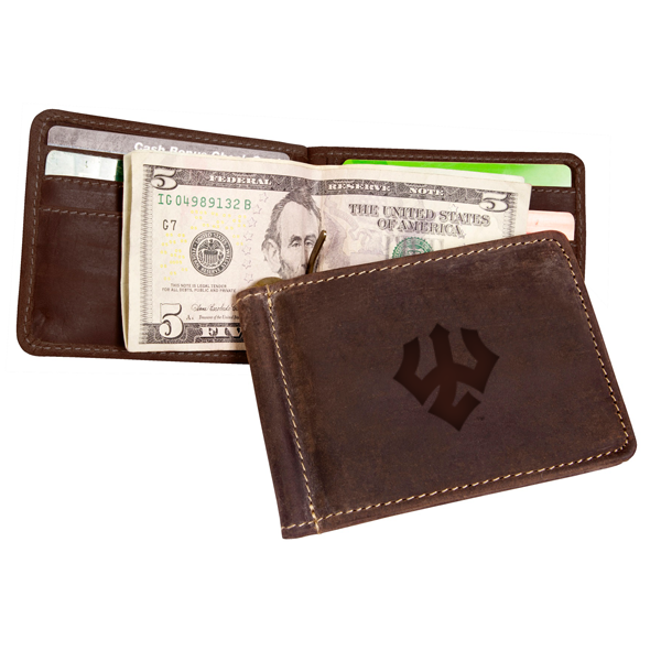 Image For Canyon Leather Bryce Money Clip Wallet