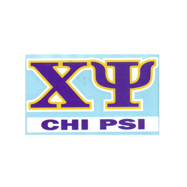 Image For Chi Psi Decal