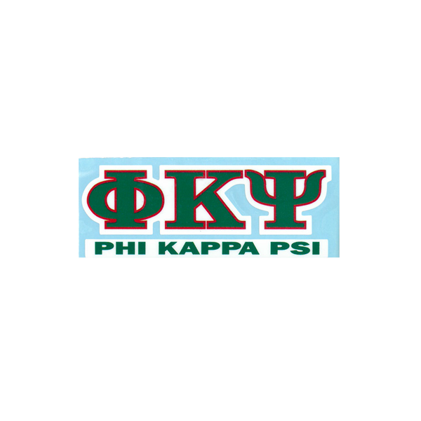 Cover Image For Phi Kappa Psi Decal