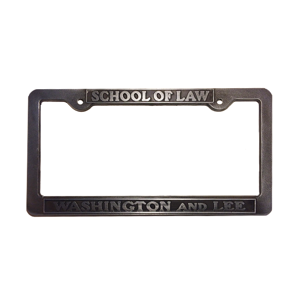 Cover Image For School of Law Pewter License Plate Frame