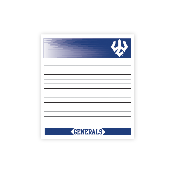 Image For Generals Memo Pad