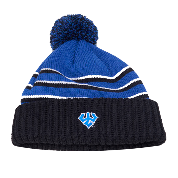 Image For Striped Beanie w/Pom