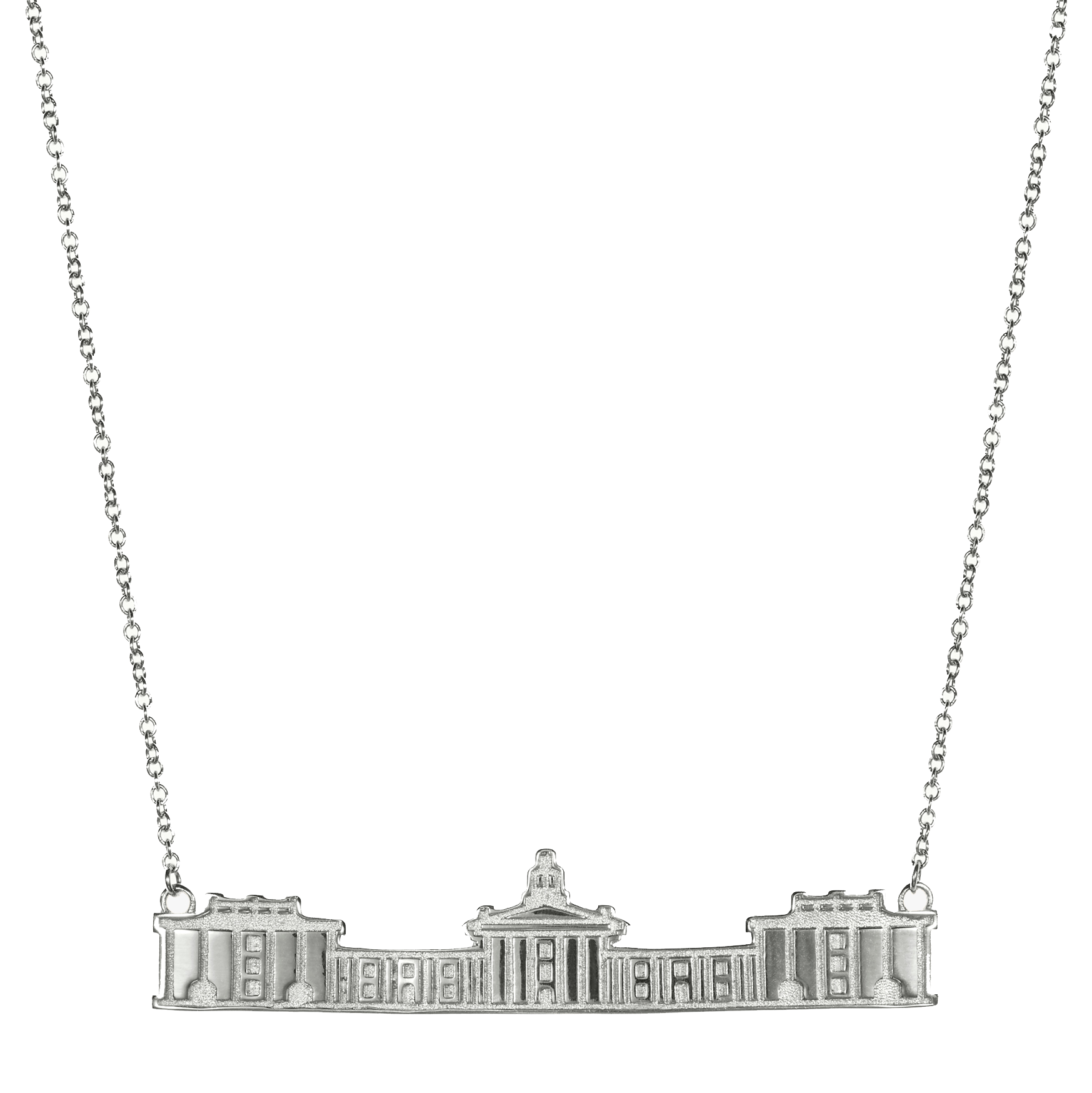 Image For Kyle Cavan Colonnade Necklace, Silver