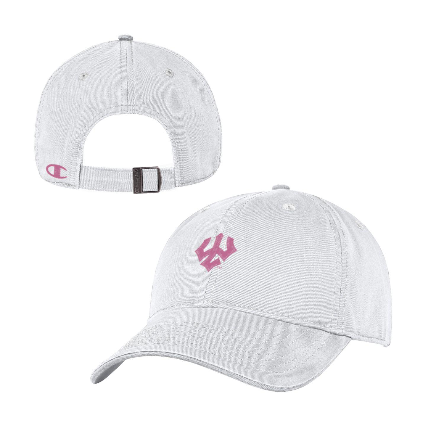 Image For Champion White with Pink Trident Hat
