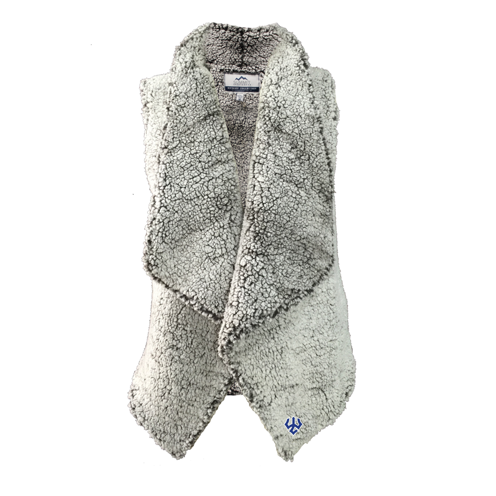 Image For Draped Sherpa Vest