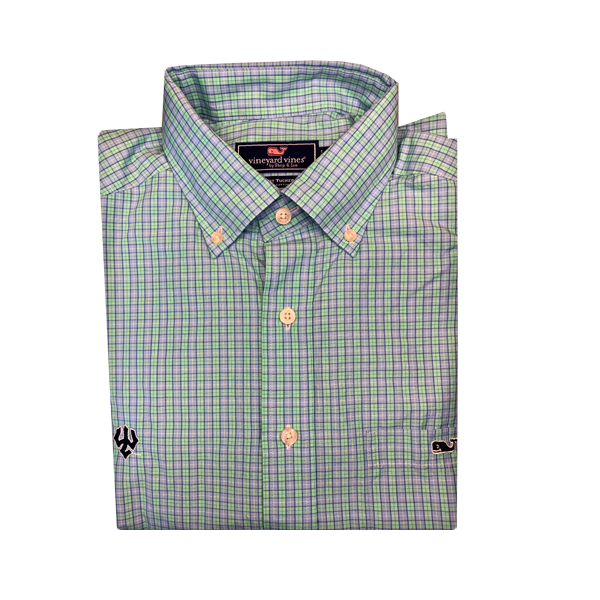 Image For Vineyard Vines Valley Check Buttondown