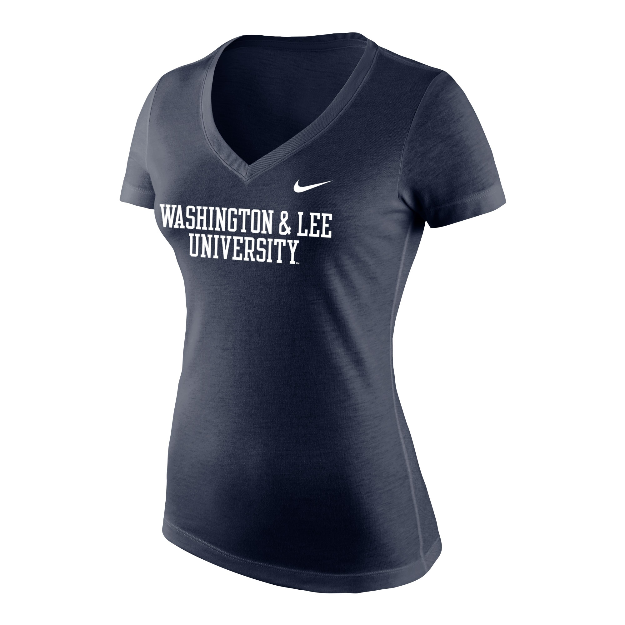 Image For Nike Tri-Blend V-Neck Tee, Navy or Royal