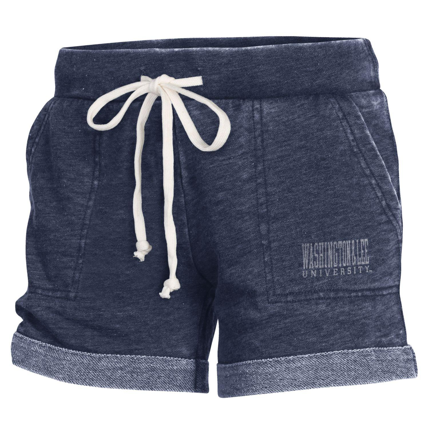 Image For Alternative Lounge Burnout French Terry Shorts, Navy