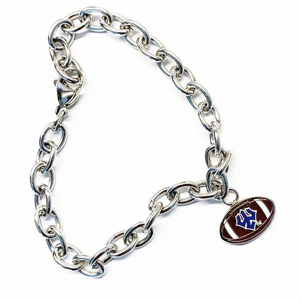 Image For Football Charm Bracelet