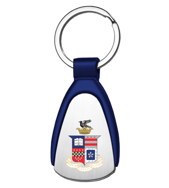 Image For Tear Drop Stainless Crest Keychain